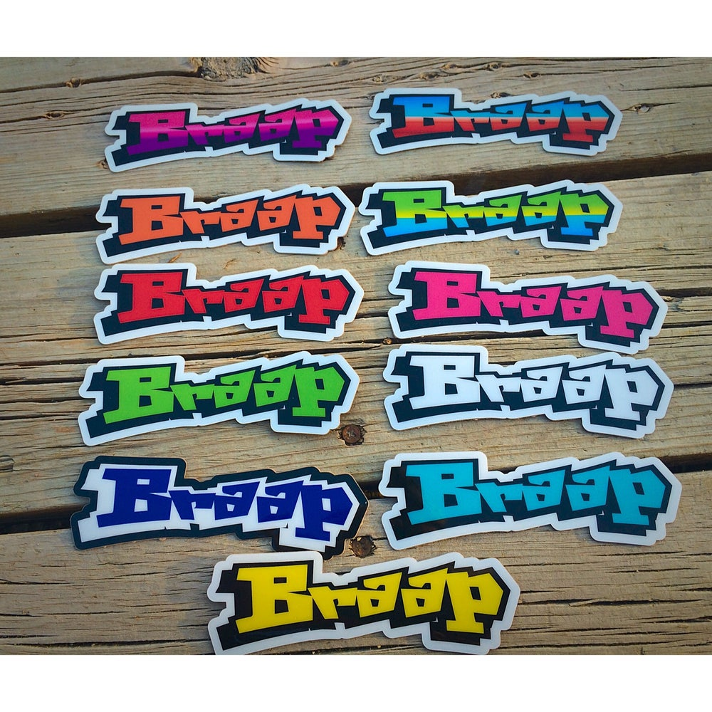 Image of BRAAP Decal Grafitti Style Font