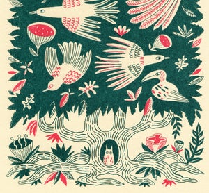 Image of 'Tree Bird' screen print