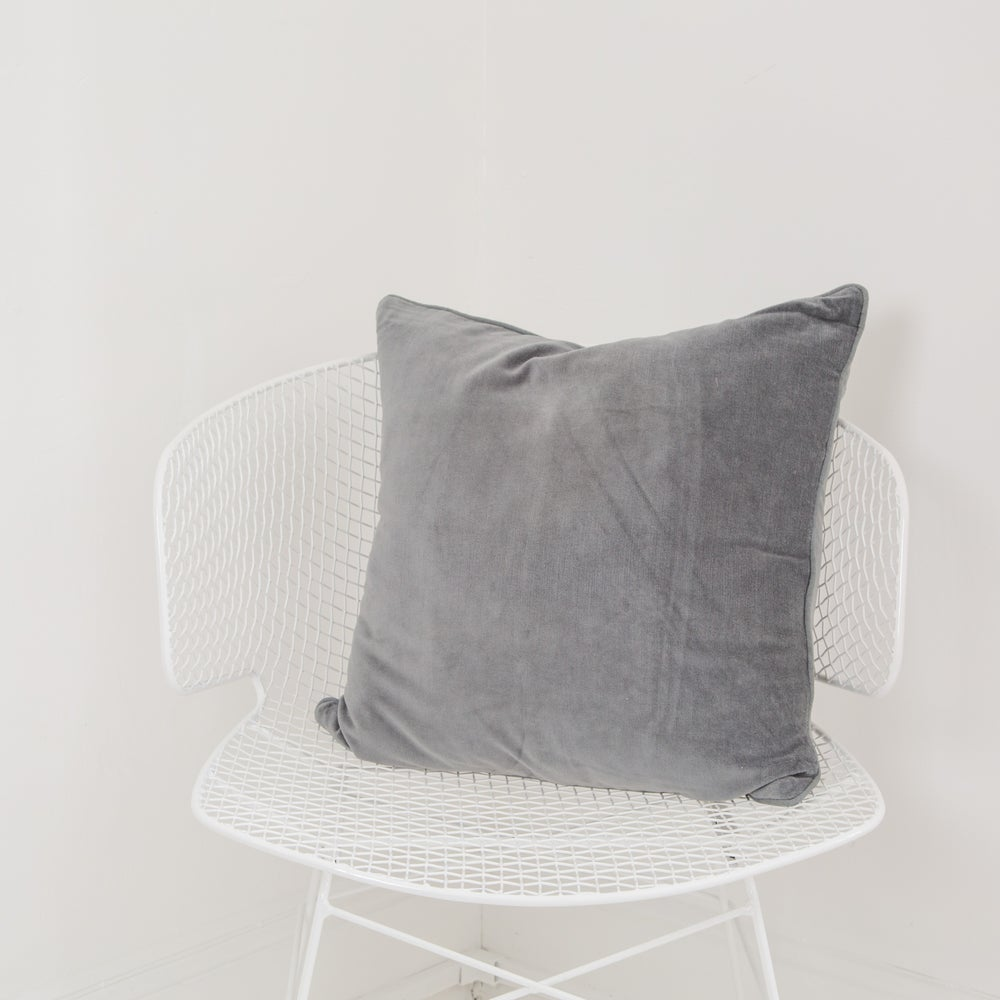 Image of Velvet Cushion 50x50 - SLATE