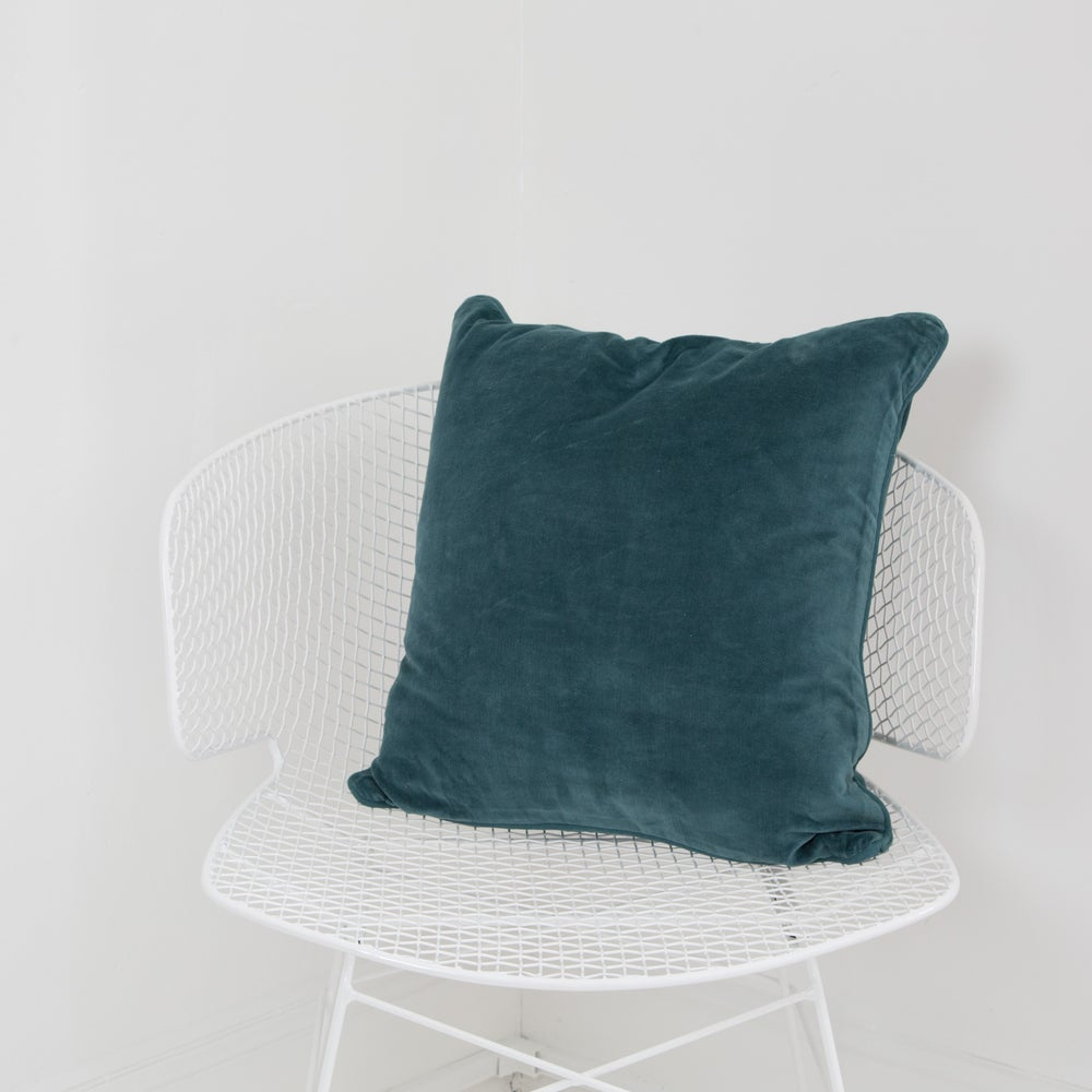 Image of Velvet Cushion 50x50 - OCEAN