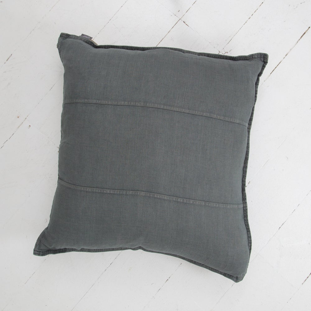 Image of Pre Washed Linen Cushion 60x60 - SLATE