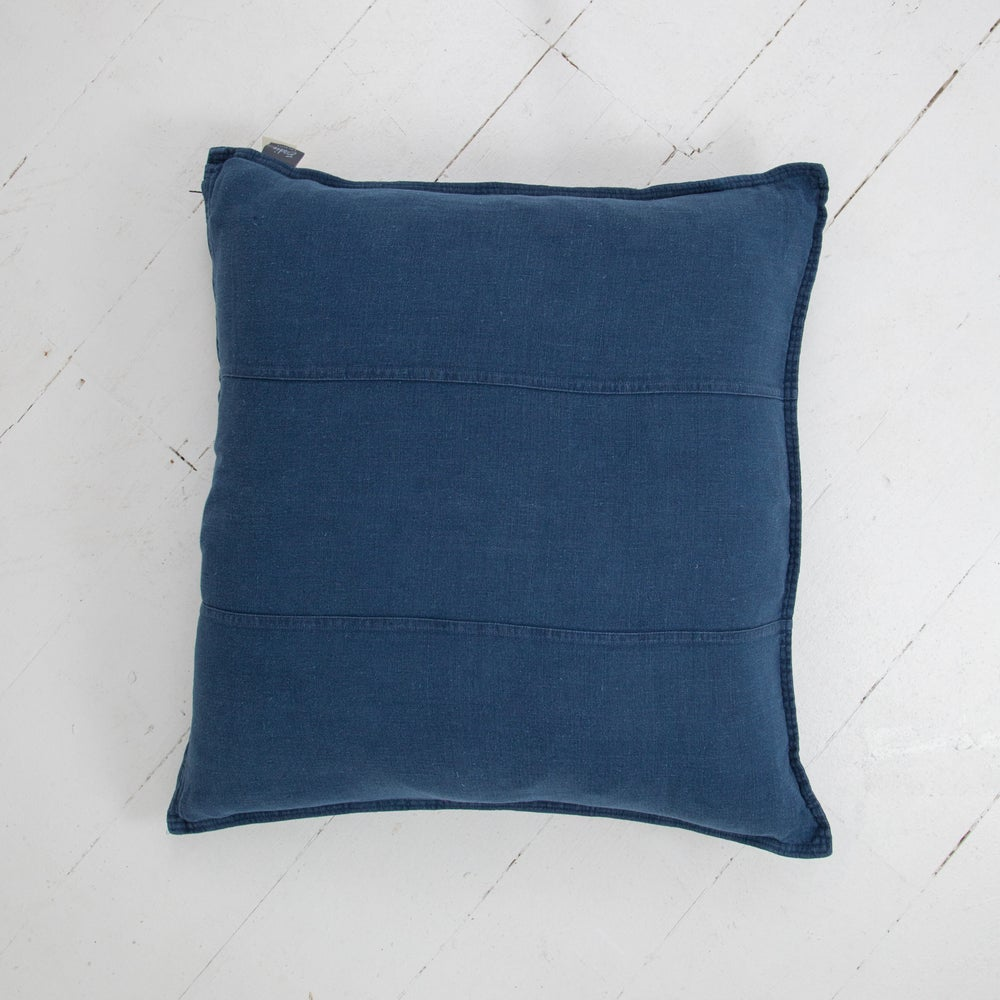 Image of Pre Washed Linen Cushion 60x60 - NAVY