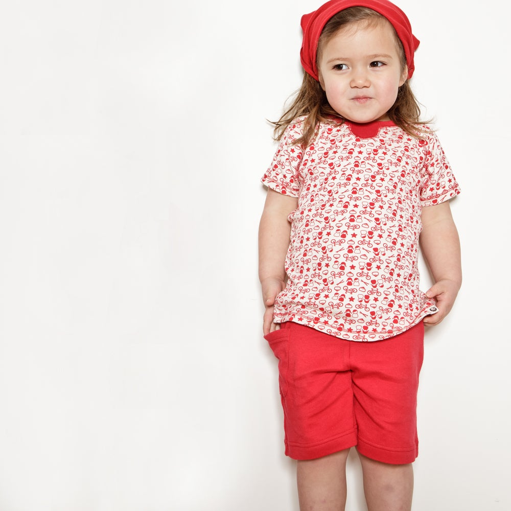 Image of Pull Me Up Shorts . China Red