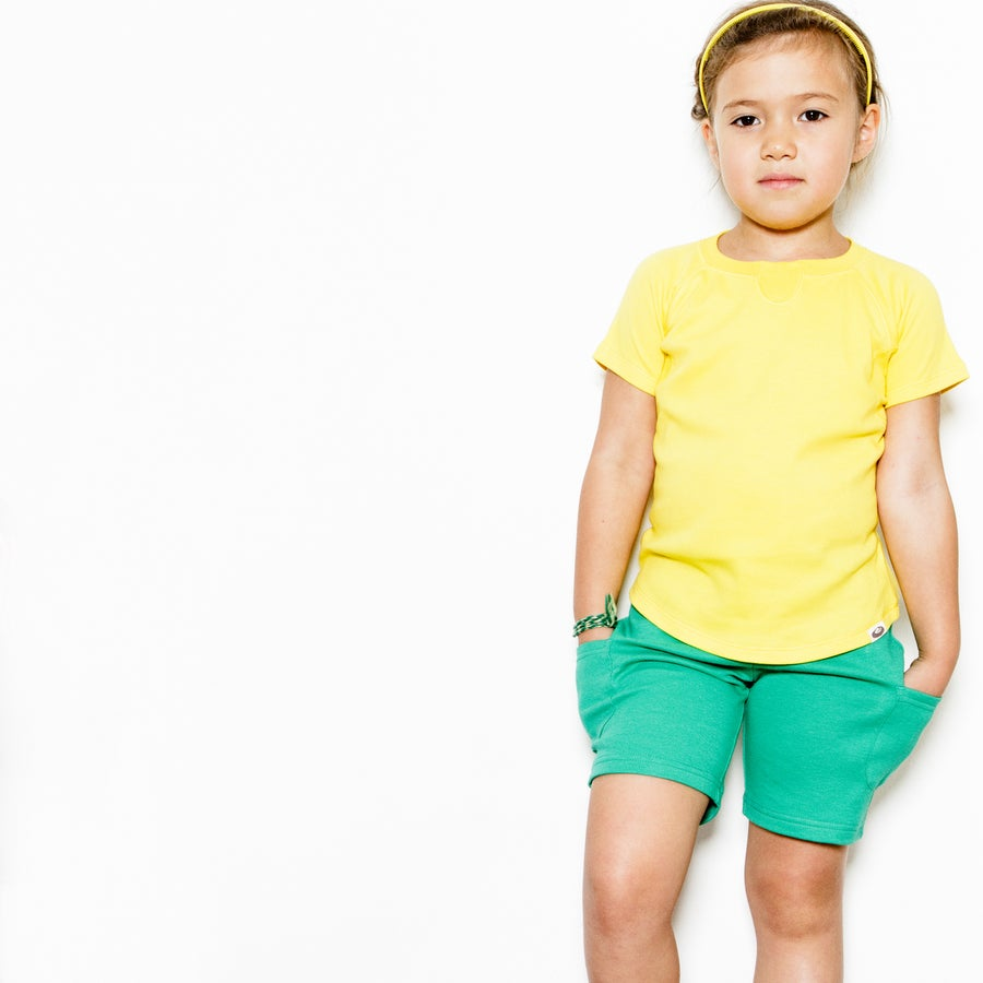 Image of Pull Me Up Shorts . Emerald Green