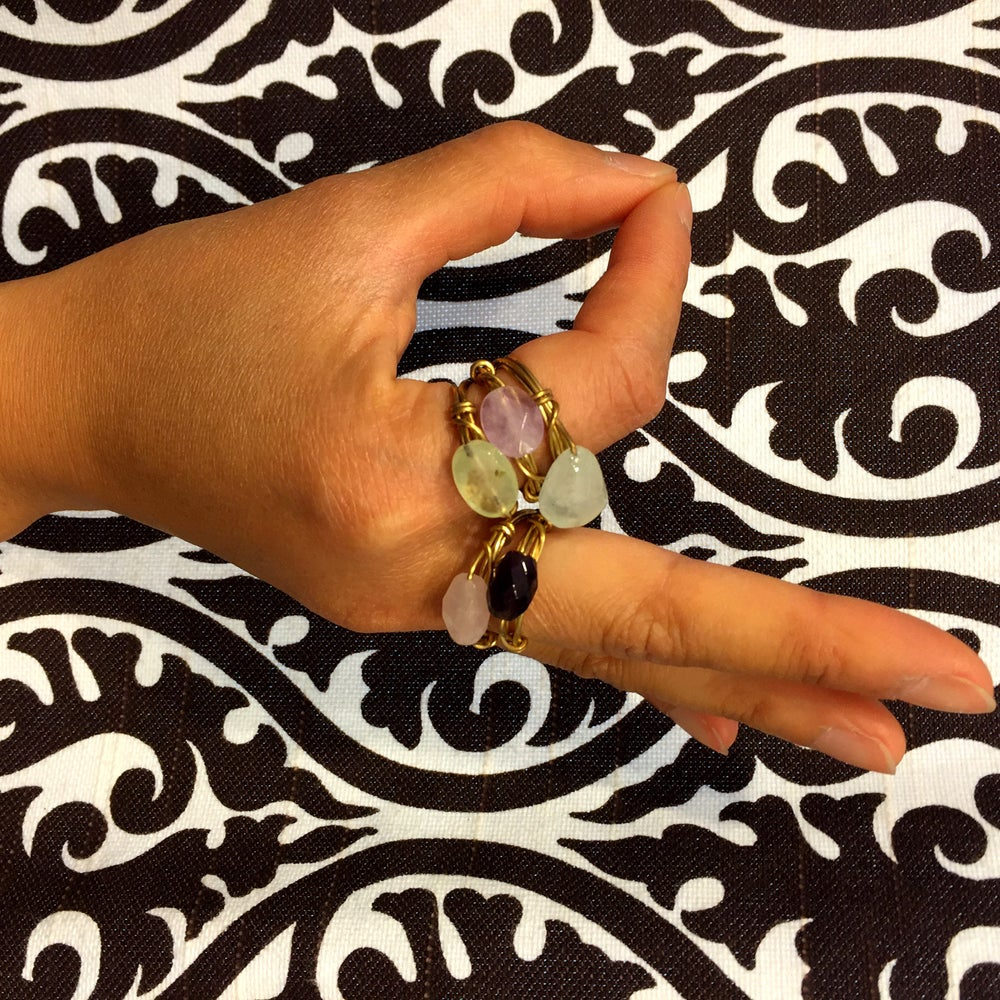 Image of Golden Mudra Gemstone Rings
