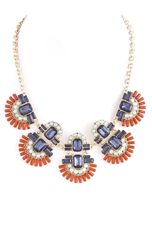 Image of Geo Bib Necklace