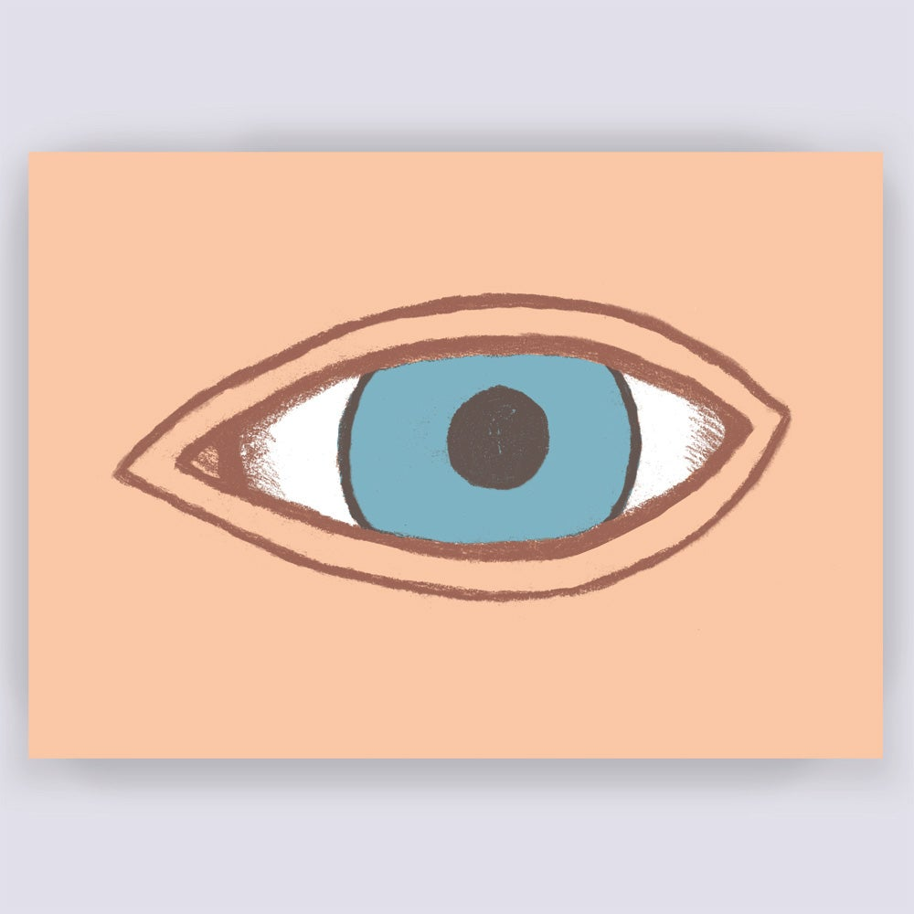 Image of Face Up! Eye Greetings Card