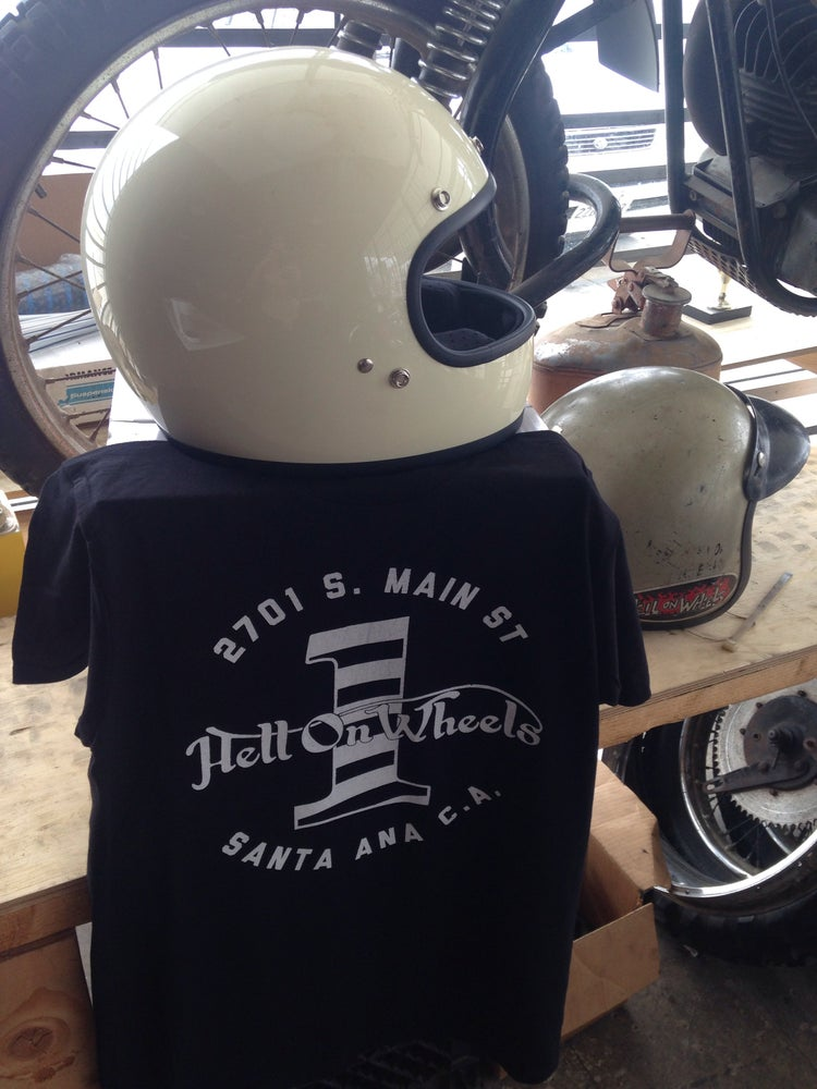 Image of mens Hell on Wheels Shop Tee in color too