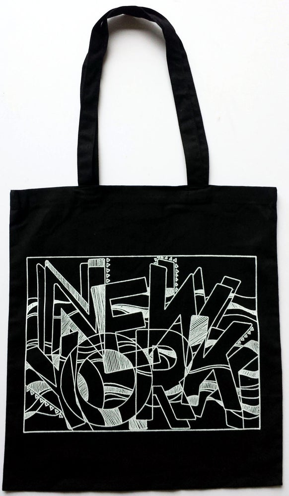 Image of Black NY Tote
