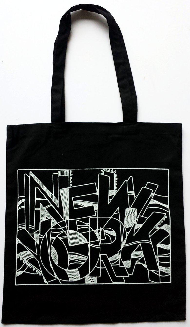 Image of Black NY Tote