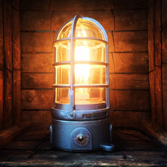 Image of Industrial Trouble Cage Accent Lamp