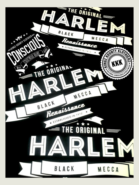"Image of HARLEM ""BLACK MECCA"" COLLECTION TSHIRTS #2"