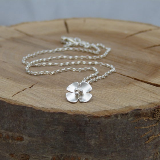 Image of Silver Buttercup Drop pendant