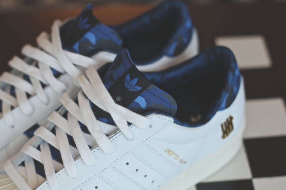 Image of ADIDAS SUPERSTAR X UNDFTD X BAPE BLUE CAMO B34292