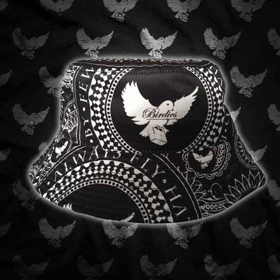 Image of Black/White Bandana Bucket Hat