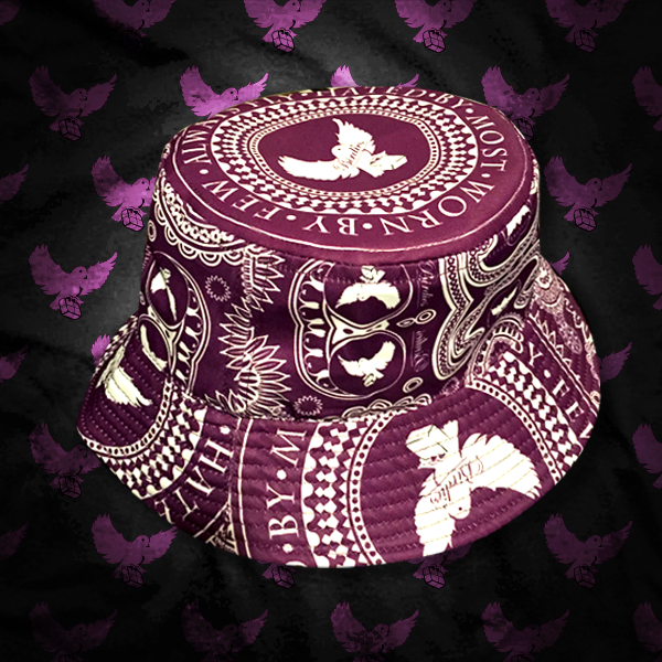 Image of Purple/White Bandana Bucket Hat