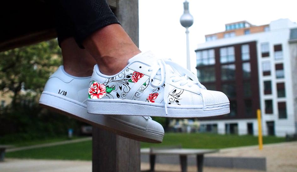 Image of Adidas Superstar 'Floral Tribal'