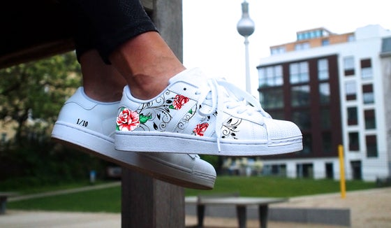 Image of Adidas Superstar 'Floral Tribal'