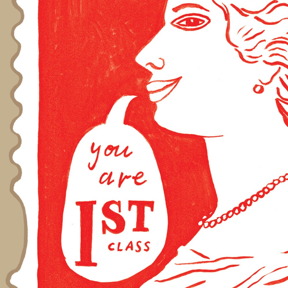Image of You are first class! Greetings Card