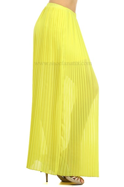 Image of SUMMER PLEATED MAXI SKIRT