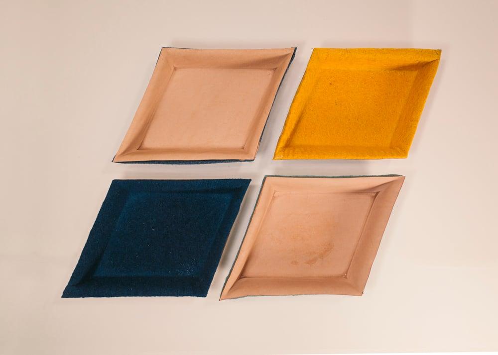 Image of Molded Leather Dish