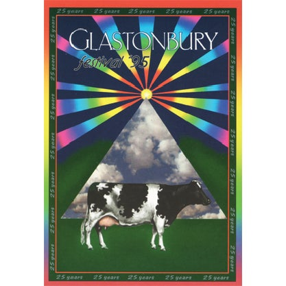 Image of Limited Edition Glastonbury Cow 1995 - 25 Years