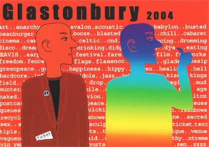 Image of Limited Edition Glastonbury Ticket 2004