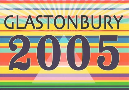 Image of Limited Edition Glastonbury Stripes and Rays 2005