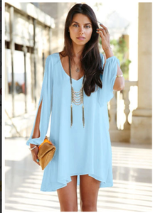 Image of Baby blue dress cover-up Beachwear