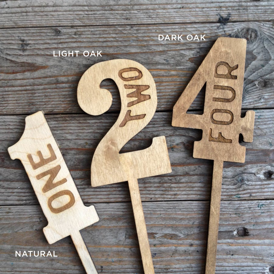Image of Wood table numbers