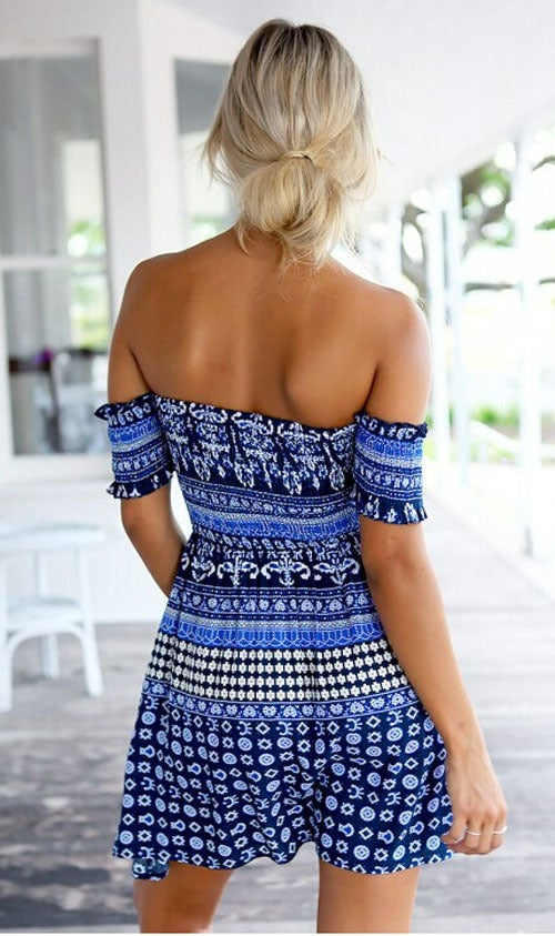 Image of Cute one word print dress