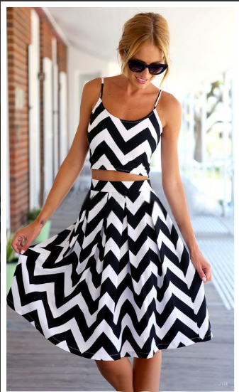 Image of Black and White Beachwear Outfit