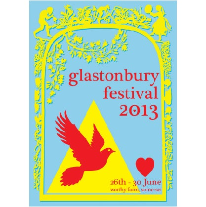 Image of Limited Edition Glastonbury Peace Dove 2013