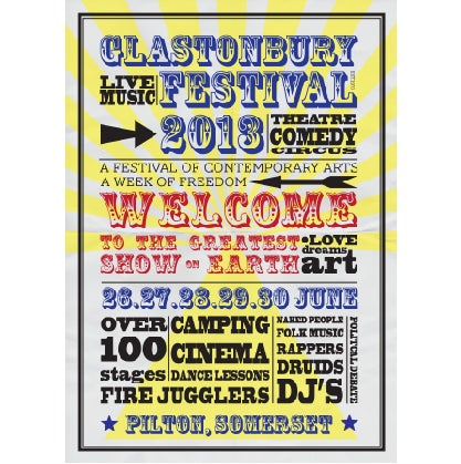 Image of Limited Edition Glastonbury Poster 2013