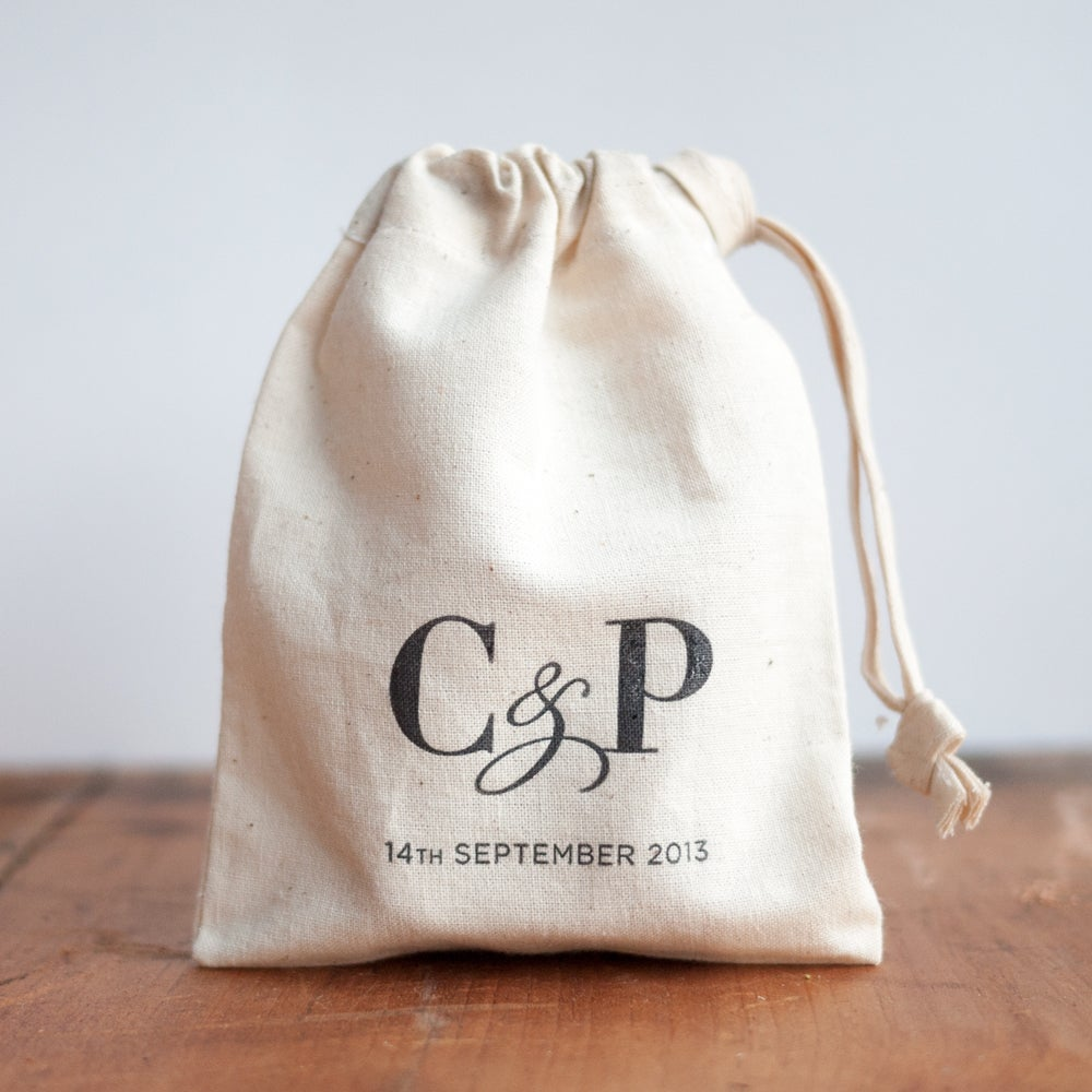 Image of Personalised Letterpress Favour Bags
