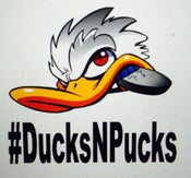 Image of #DucksNPucks Vinyl Car Decal