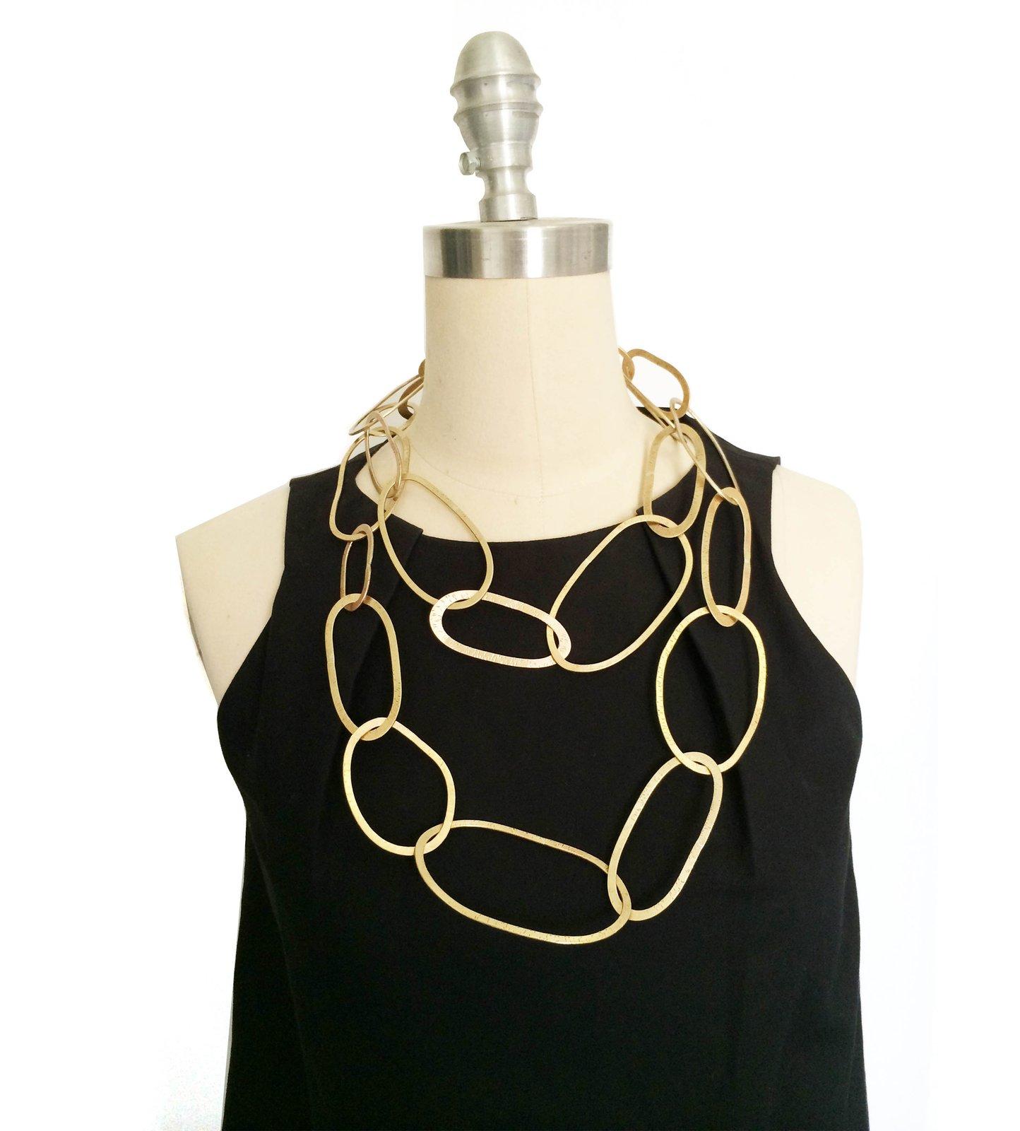 Long Chunky Brass Chain