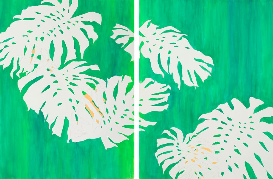 Image of Monstera Diptych No 19