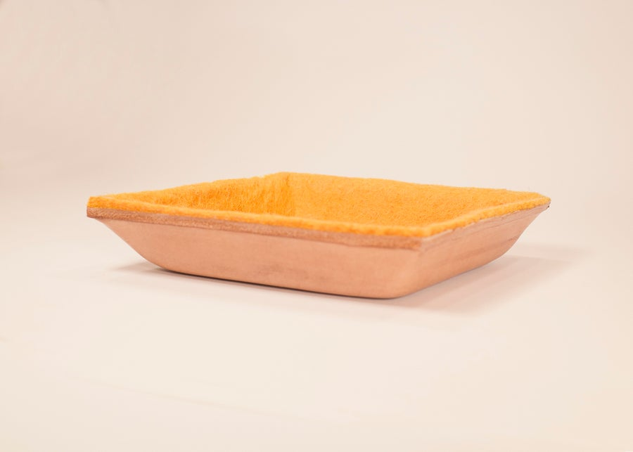 Image of Molded Leather Dish