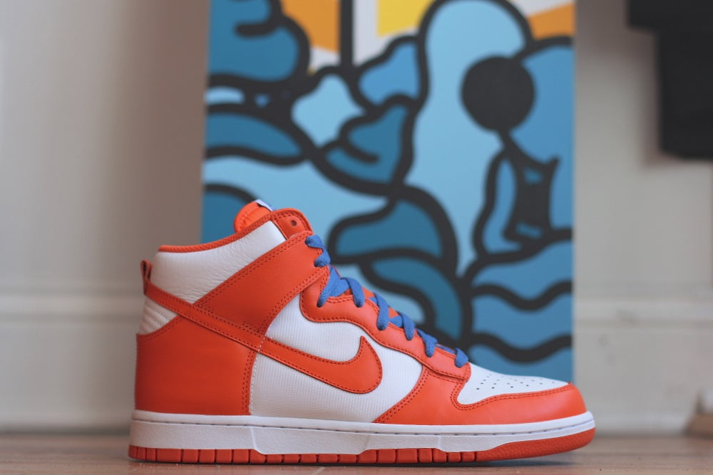 Image of NIKE DUNK HIGH ORANGE BLAZE 317982 181