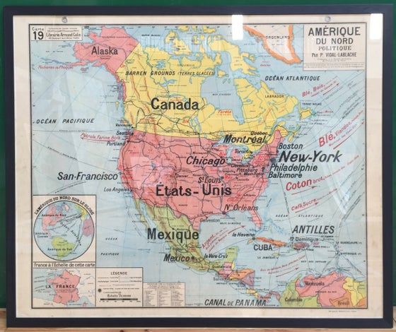 Image of 1960s Map of North America
