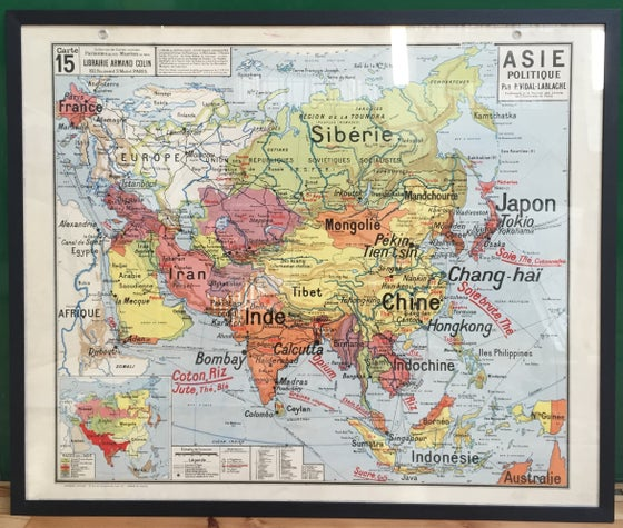 Image of 1960s French School Map of Asia
