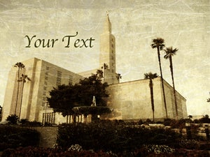 Image of Los Angeles California LDS Mormon Temple Art 001 - Personalized LDS Temple Art