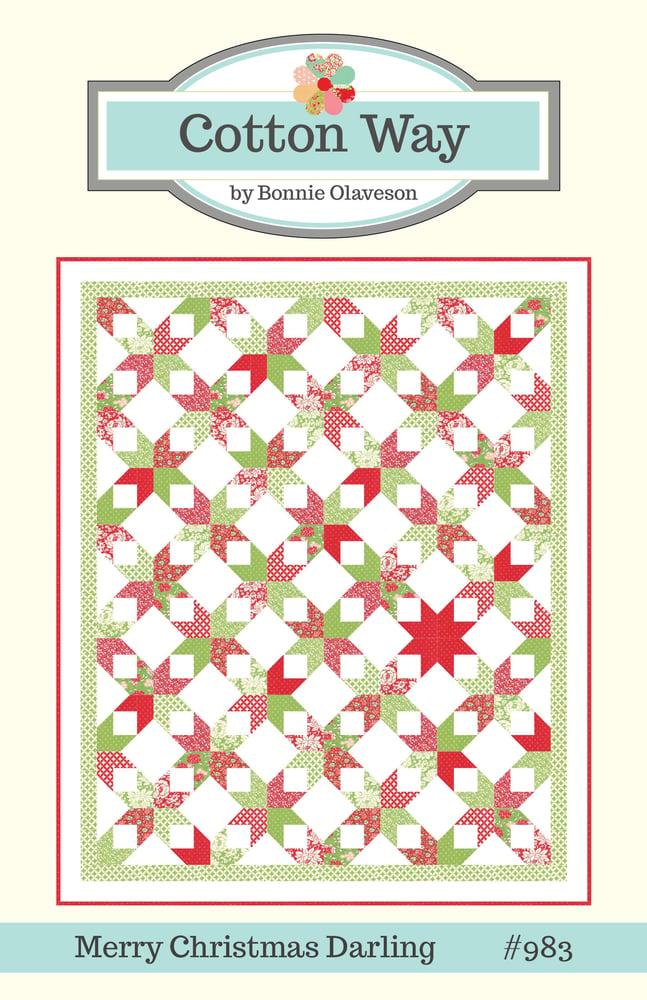 image of merry christmas darling pdf pattern 983