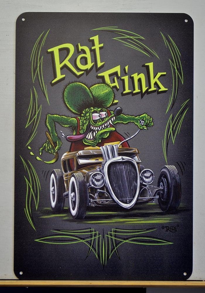 Image of Rat Fink Rat / Metal Print