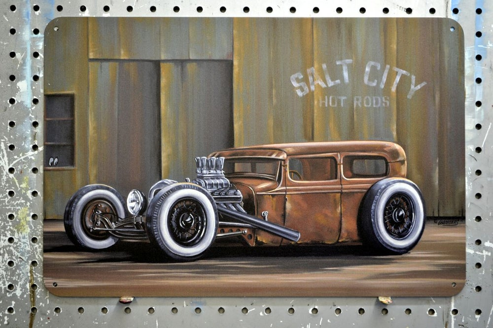 Image of Salt City Rat / Metal Print