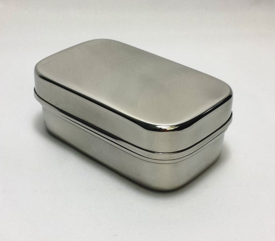 Image of Green Essentials - Tiny tin stainless steel container 150ml