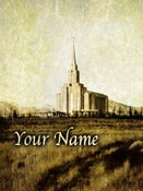 Image of Oquirrh Mountain Utah LDS Mormon Temple Art 002 - Personalized LDS Temple Art