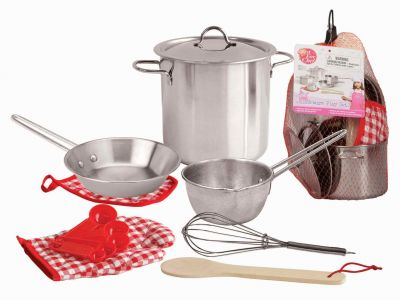 Image of Stainless Steel Cooking Play Set