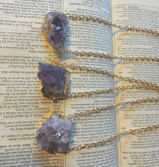 Image of Raw Amethyst cluster pendant